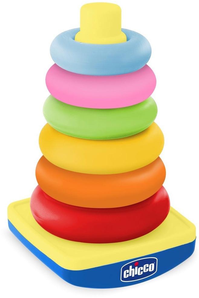 Пирамидка Chicco 6 деталей игрушки для детей от 6 месяцев