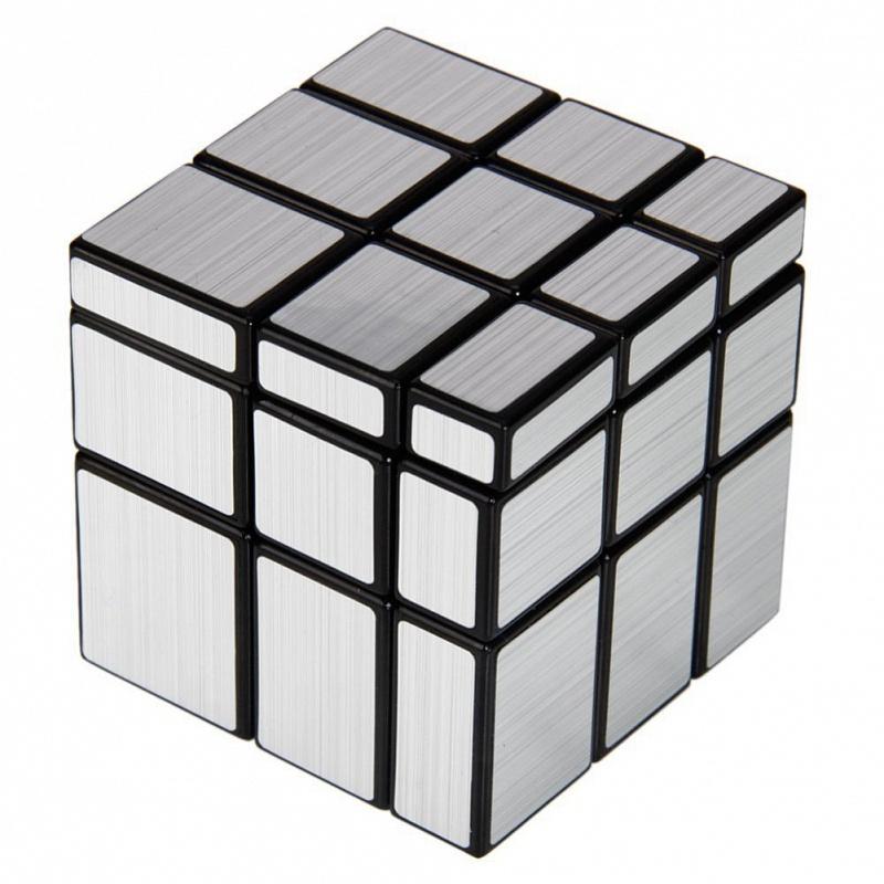 Головоломка Зеркальный кубик 3х3 Серебро