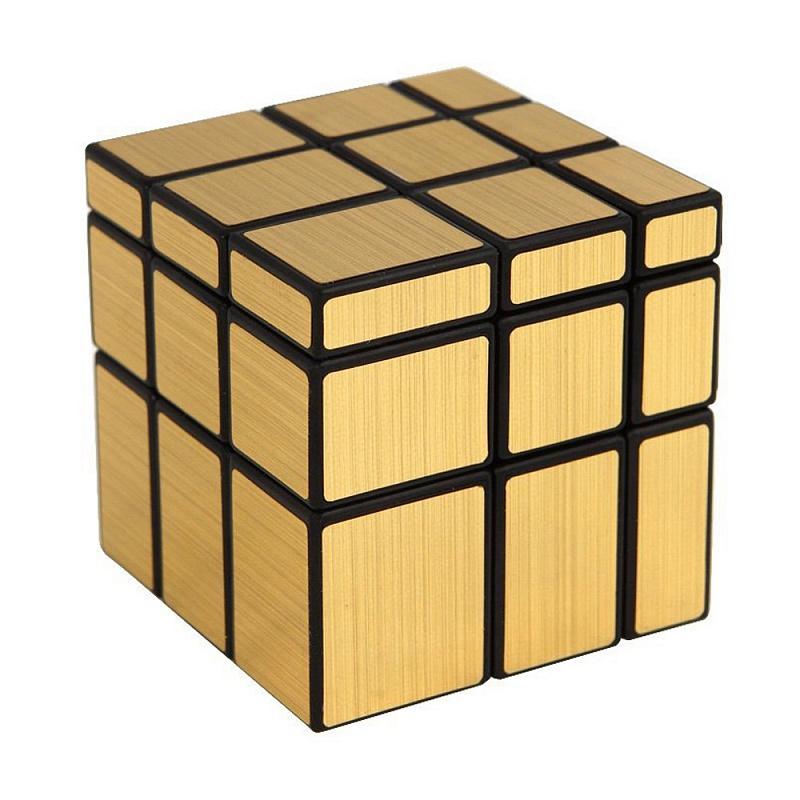 Головоломка Зеркальный кубик 3х3 Золото цены