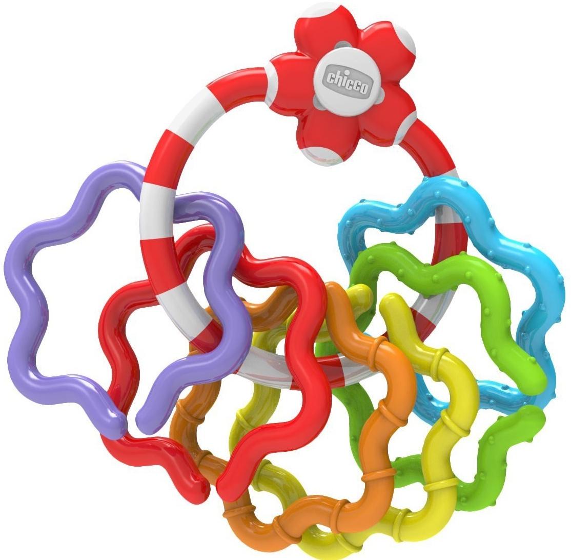 Погремушка Chicco Кольца белый игрушка погремушка chicco поезд