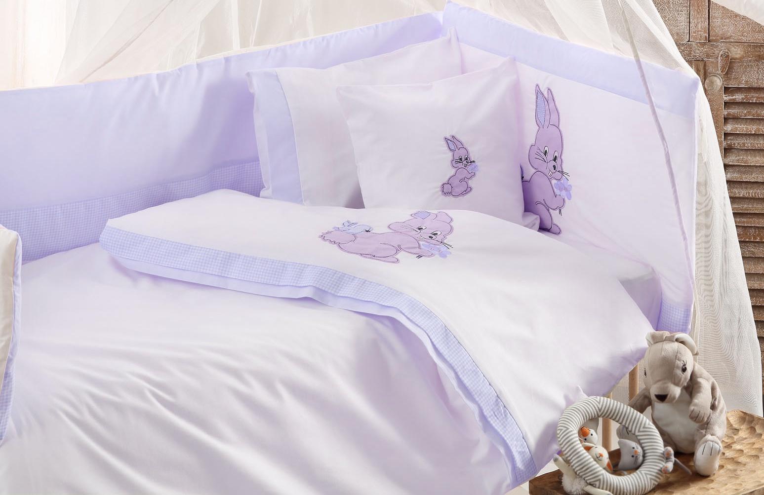 Комплект белья для новорожденных Gelin home BUNNY, голубой, голубой