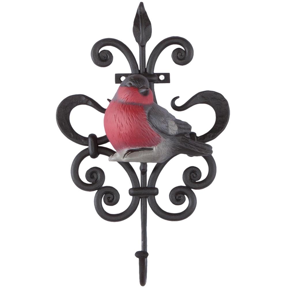 Вешалка настенная aim Крючок настенный Снегирь, черный, красный, серый цена