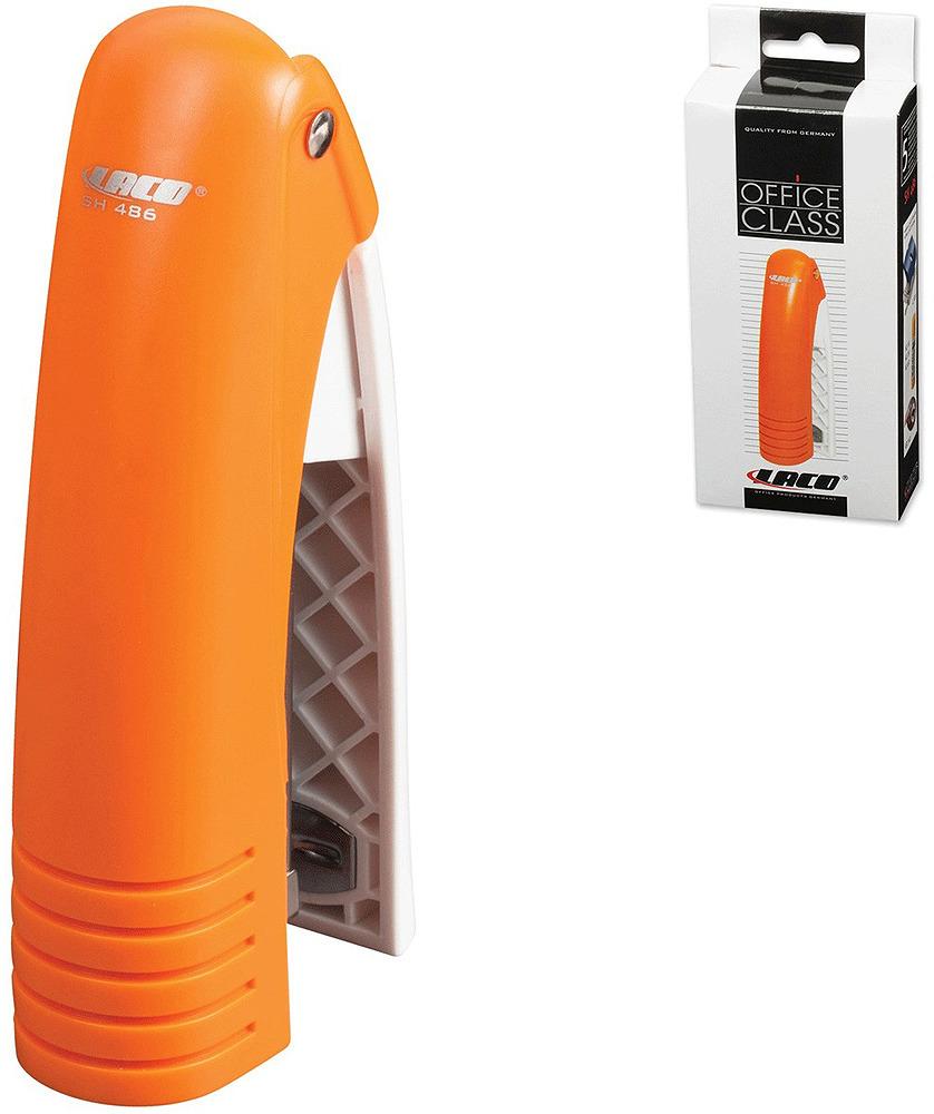 Laco Степлер SН486 скоба №24/6 на 20 листов цвет оранжевый
