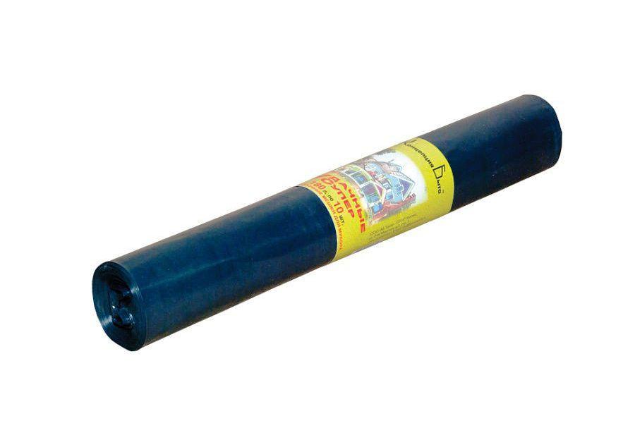 Мешки для мусора Vitalux Мешки для строительного мусора ПРОФИ 180 л 65 мкм 90х120 см 10 шт. Виталюкс, черный
