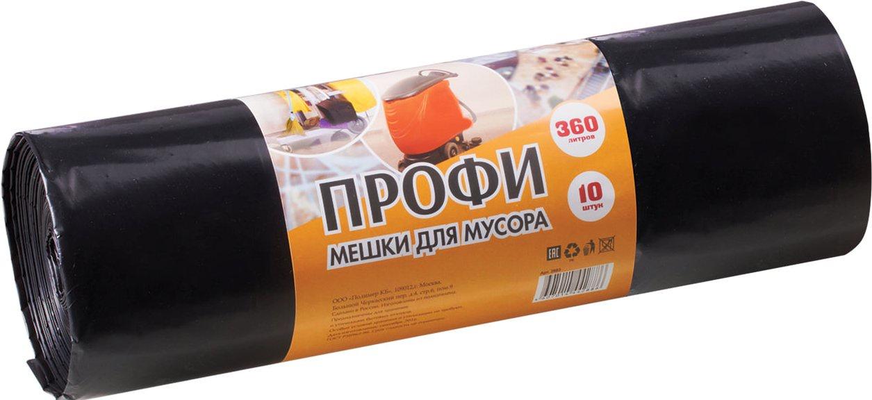 Мешки для мусора Vitalux Мешки для строительного мусора ПРОФИ 360 л 65 мкм 110х140 см 10 шт. Виталюкс, черный