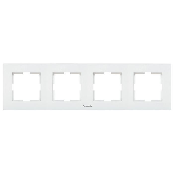 Рамка электроустановочная Panasonic 4-местная горизонтальная, белый платье oodji ultra цвет красный белый 11912003 45967 4510b размер 36 170 42 170