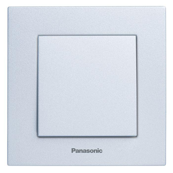 МОДУЛЬ Выключатель 1кл серебро Karre Plus Panasonic WKTT0001-2SL-RES механизм выключателя panasonic wktt0010 2sl res karre plus 2кл с подсветкой серебро