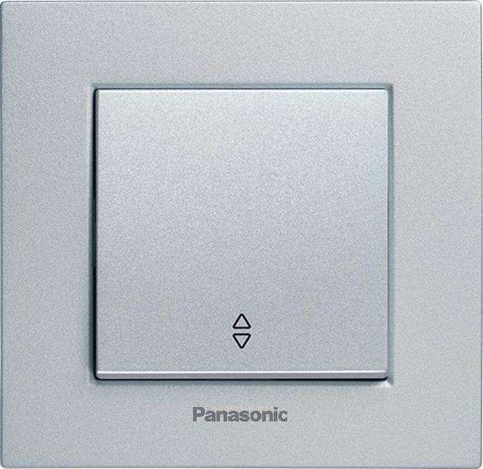 МОДУЛЬ Переключатель 1кл проходной серебро Karre Plus Panasonic WKTT0003-2SL-RES механизм выключателя panasonic wktt0010 2sl res karre plus 2кл с подсветкой серебро