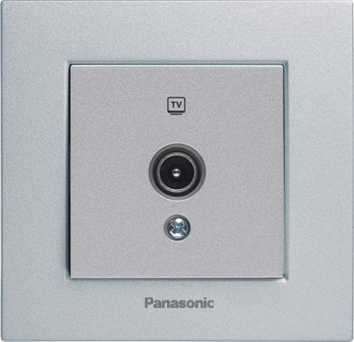 МОДУЛЬ Розетка TV проходная 12dB серебро Karre Plus Panasonic WKTT0452-2SL-RES механизм выключателя panasonic wktt0010 2sl res karre plus 2кл с подсветкой серебро