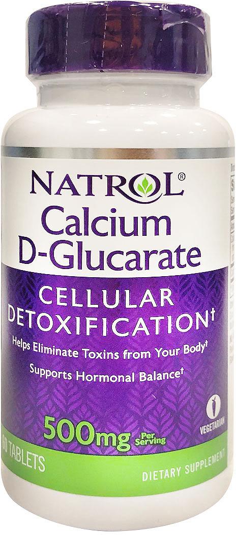 Витаминно-минеральные комплексы Natrol Д-глюкорат кальция, 250 мг, 60 таблеток витамины и минералы natrol natrol ginkgo biloba 120 mg 60 капсул