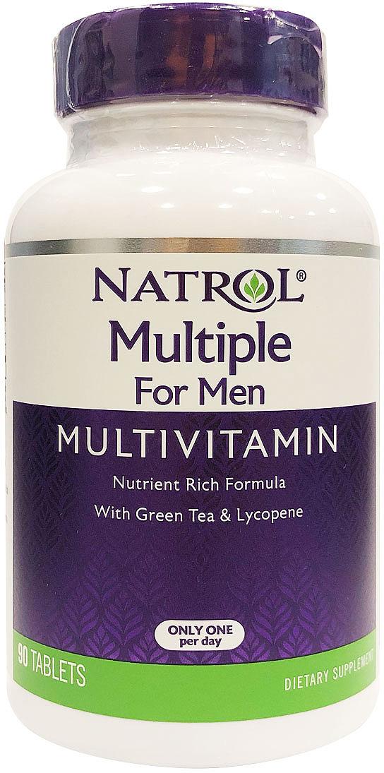 Витаминно-минеральные комплексы Natrol, для мужчин, 90 таблеток цена