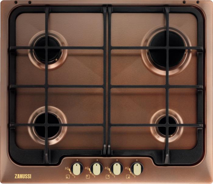 Варочная панель Zanussi ZGG566414P, газовая, коричневый варочная панель zanussi gpz363sw газовая белый