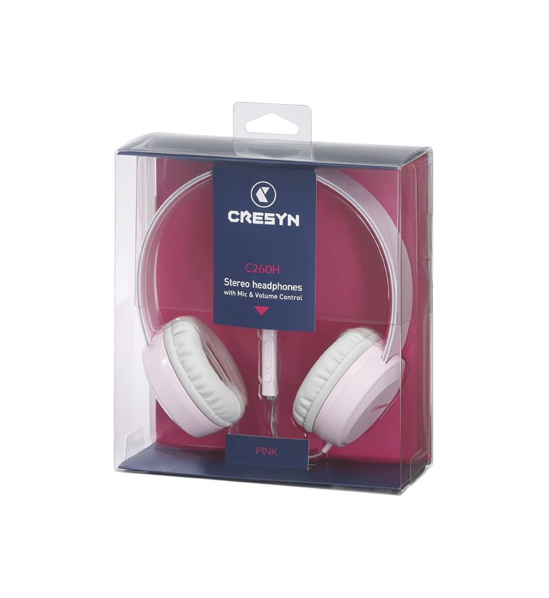 цена на Наушники Cresyn накладные C260H mic Green (CPU-HP0260PL01 ), розовый