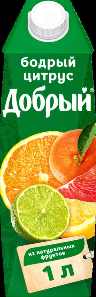 Сок Добрый из яблока, апельсина, мандарина, грейпфрута, лимона и лайма, 12 шт по 1 л добрый сок яблоко персик 0 2 л
