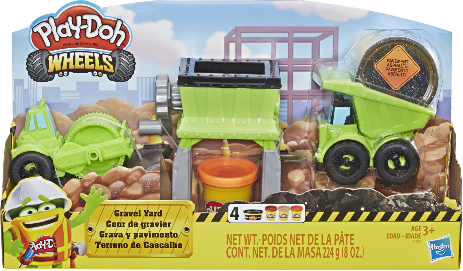 Набор для лепки Play-Doh Wheels Веселая стройка, E4293EU4