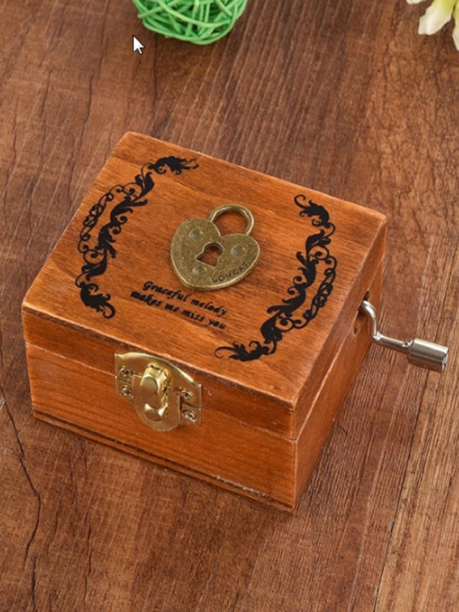 Шкатулка Правила Успеха Замочек музыкальная деревянная шарманка, темно-коричневый lamaze музыкальная игра лев логан звук мелодия lamaze
