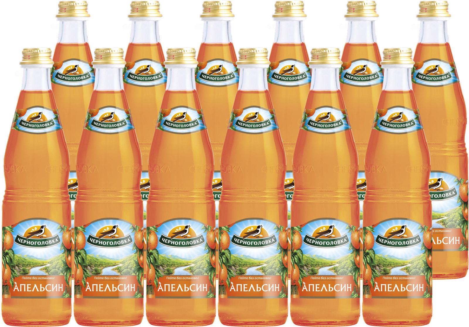 """Лимонад Напитки из Черноголовки """"Апельсин"""", 12 шт по 500 мл"""
