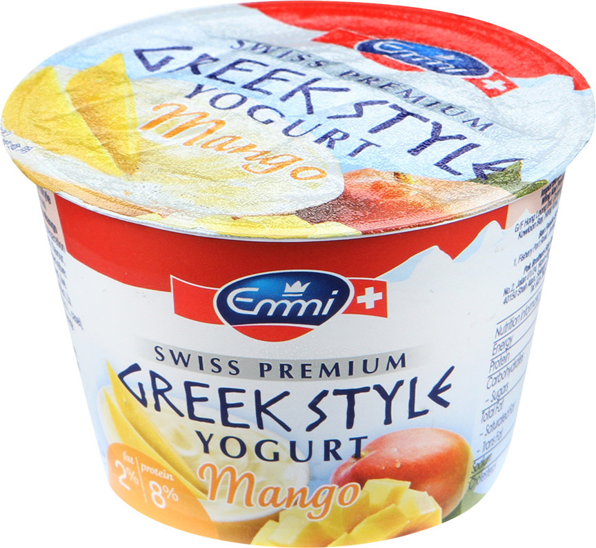 цена на Йогурт Emmi Greek Style с манго, 2%, 150 г