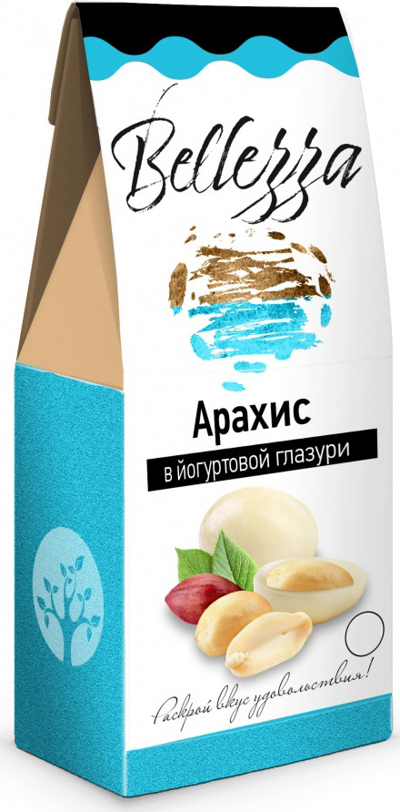 цена Конфеты Bellezza Арахис в йогуртовой глазури, 135 г онлайн в 2017 году