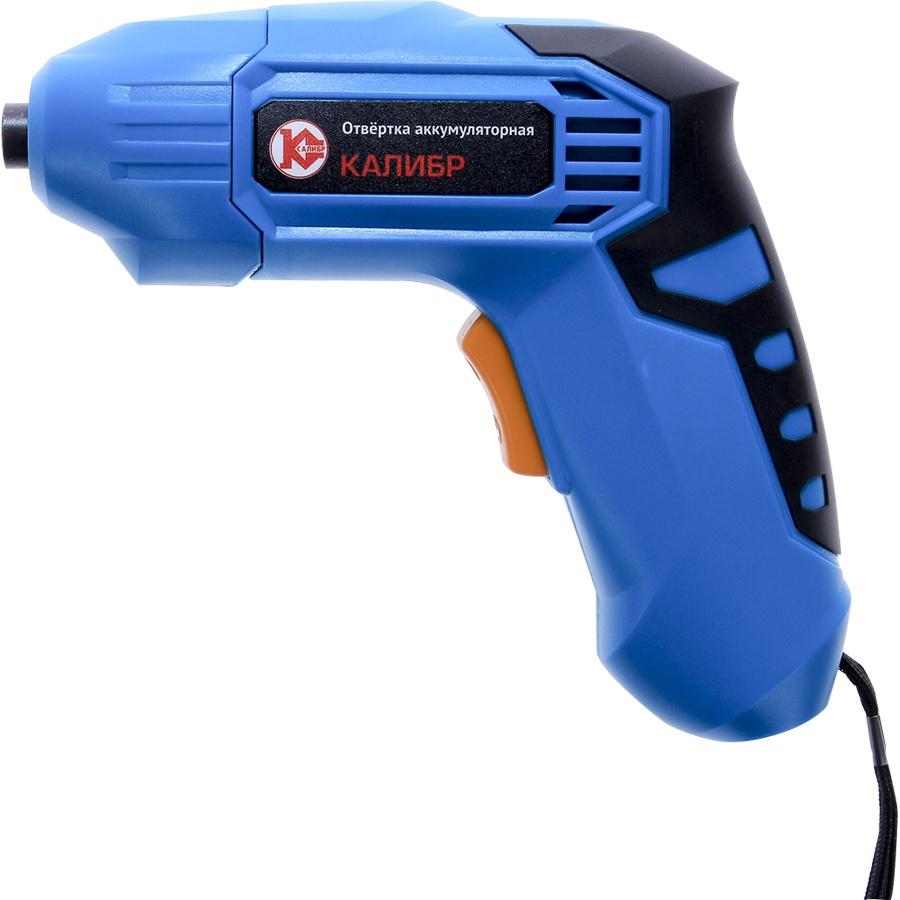 цена на Отвертка аккумуляторная Калибр ОА-3,6Р+, синий