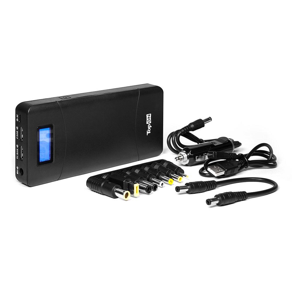 Внешний аккумулятор TopON TOP-T72 универсальный внешний аккумулятор topon top t72 w 18000mah 66 6wh с 2 usb портами и qc 2 0 для зарядки ноутбука белый