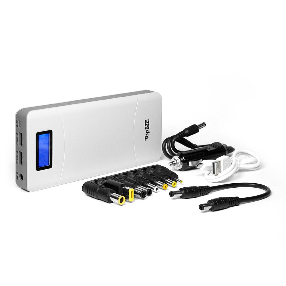Внешний аккумулятор TopON TOP-T72/W универсальный внешний аккумулятор topon top t72 w 18000mah 66 6wh с 2 usb портами и qc 2 0 для зарядки ноутбука белый