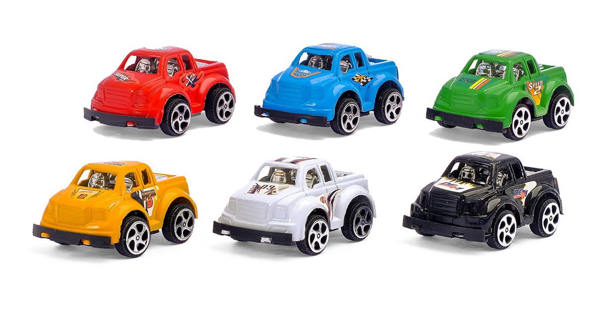 цена на Игровой набор игрушек Джип, с инерционными машинками, 2611562, 6 шт