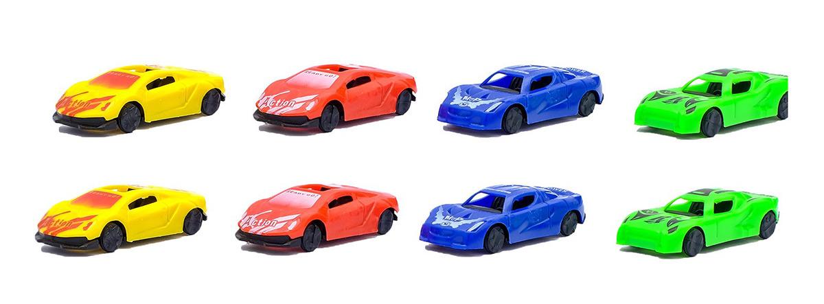 Игровой набор игрушек Гонка, с машинками, 2610567, 12 шт2610567Ваш малыш увлекается автомобилями? Тогда он по достоинству оценит данный игровой набор.