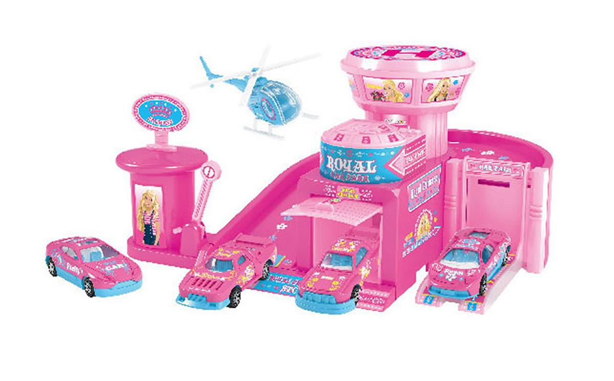 Парковка Королевство принцессы, с 2 машинками и вертолетом, 18578481857848Ваш малыш увлекается автомобилями? Тогда он по достоинству оценит данный игровой набор. Только представьте: его ждет большое пространство для стоянки, автомастерская, автомойка и заправка — все как в реальном мире!
