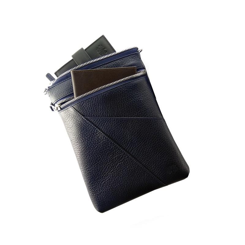 Сумка на плечо QOPER Сумка наплечная bag, темно-синий