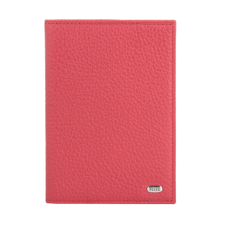 цена Обложка для паспорта Petek 1855 581.46D.10 Red, красный онлайн в 2017 году