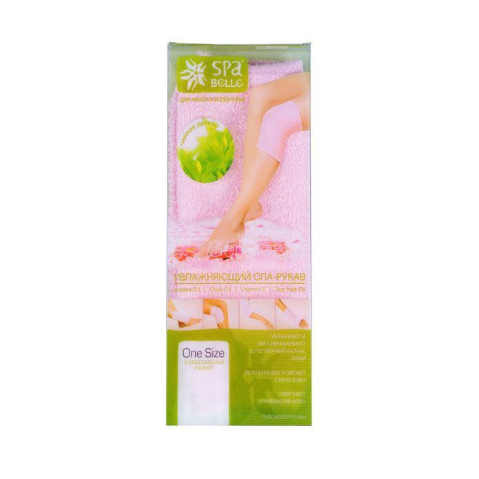 Увлажняющий гелевый спа-рукав SPA Belle с чайным деревом розовый lycon сахарный скраб с коллагеном витамином е лимонным чайным деревом и мятой 520г