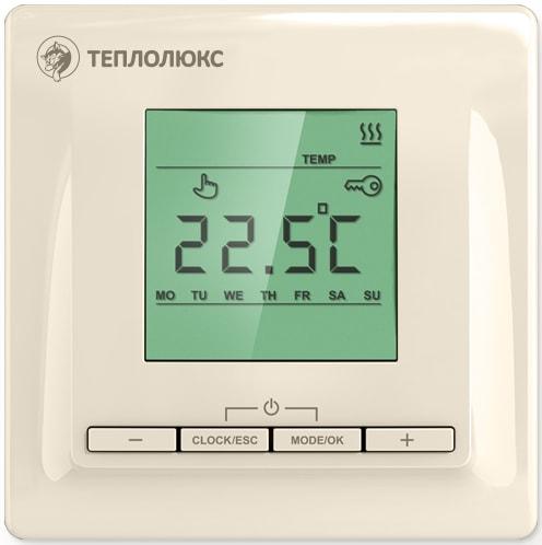 Терморегулятор теплого пола Теплолюкс Терморегулятор ТР 515 кремовый цена