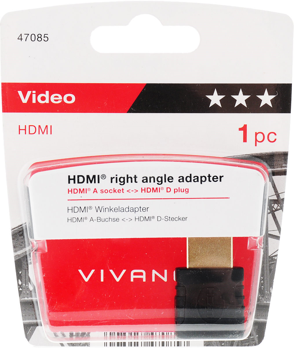 Кабель HDMI Vivanco Ordinary 47/14 03, черный кабель hdmi vivanco ordinary 47 10 10g 1 м черный