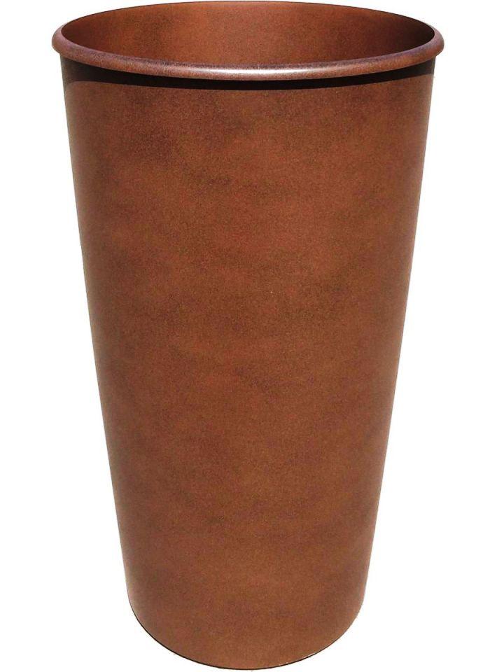 Горшок для цветов ТЕК.А.ТЕК Le Cone, кашпо 41 литр, дренажная вставка 18 литров. Коричневый. Ар. 1200-25, коричневый дренаж и водосток
