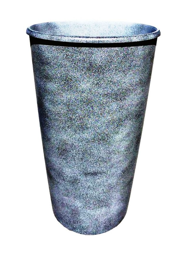 Горшок для цветов ТЕК.А.ТЕК Le Cone (Ле Коне) кашпо 41л дренажная вставка 18л Графит Ар. 1200-28, Пластик дренаж и водосток