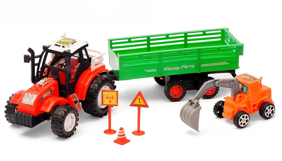 Машинка Фермер, инерционная, с прицепом, 2611580