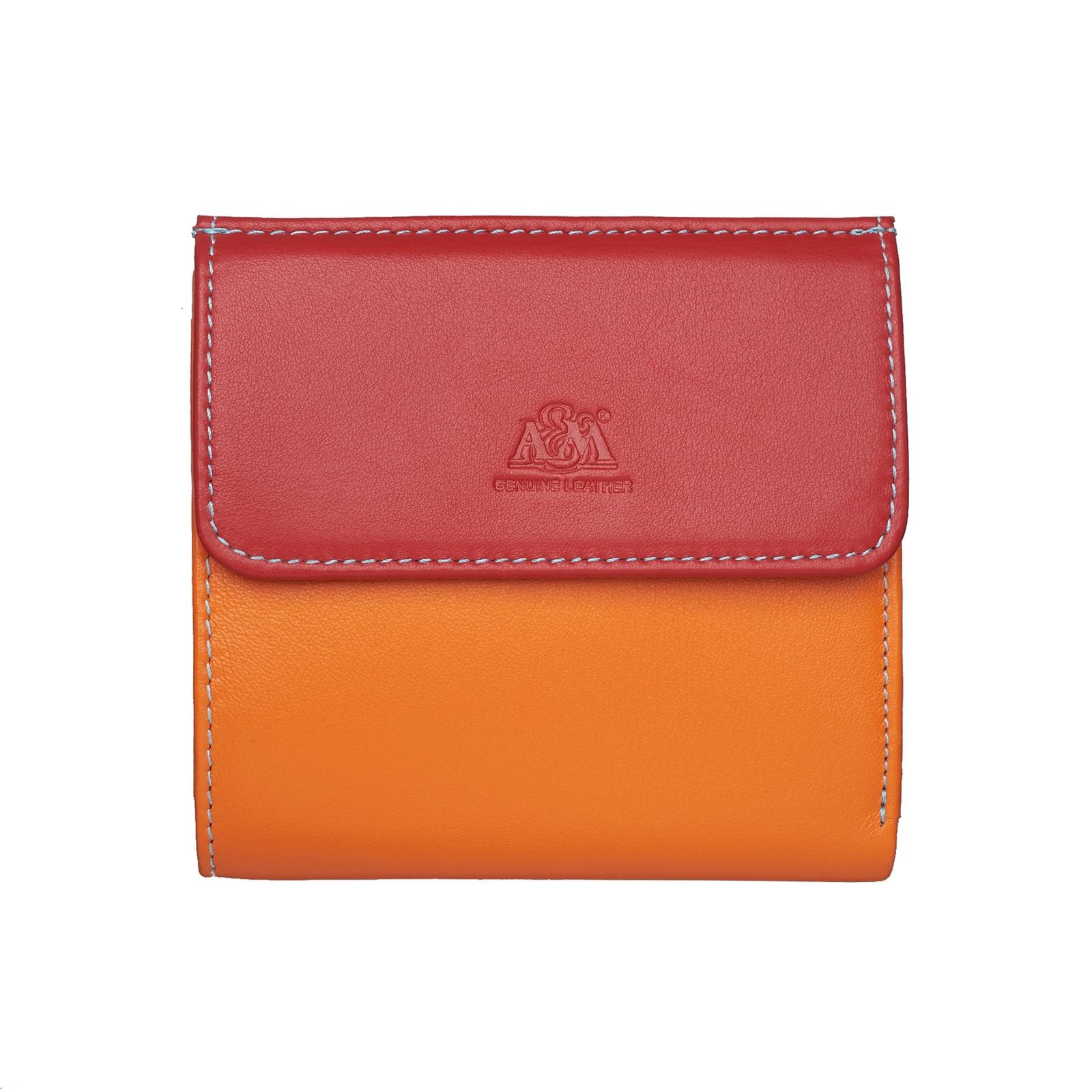 Портмоне A&M женское, 2703multi, оранжевый, оранжевый
