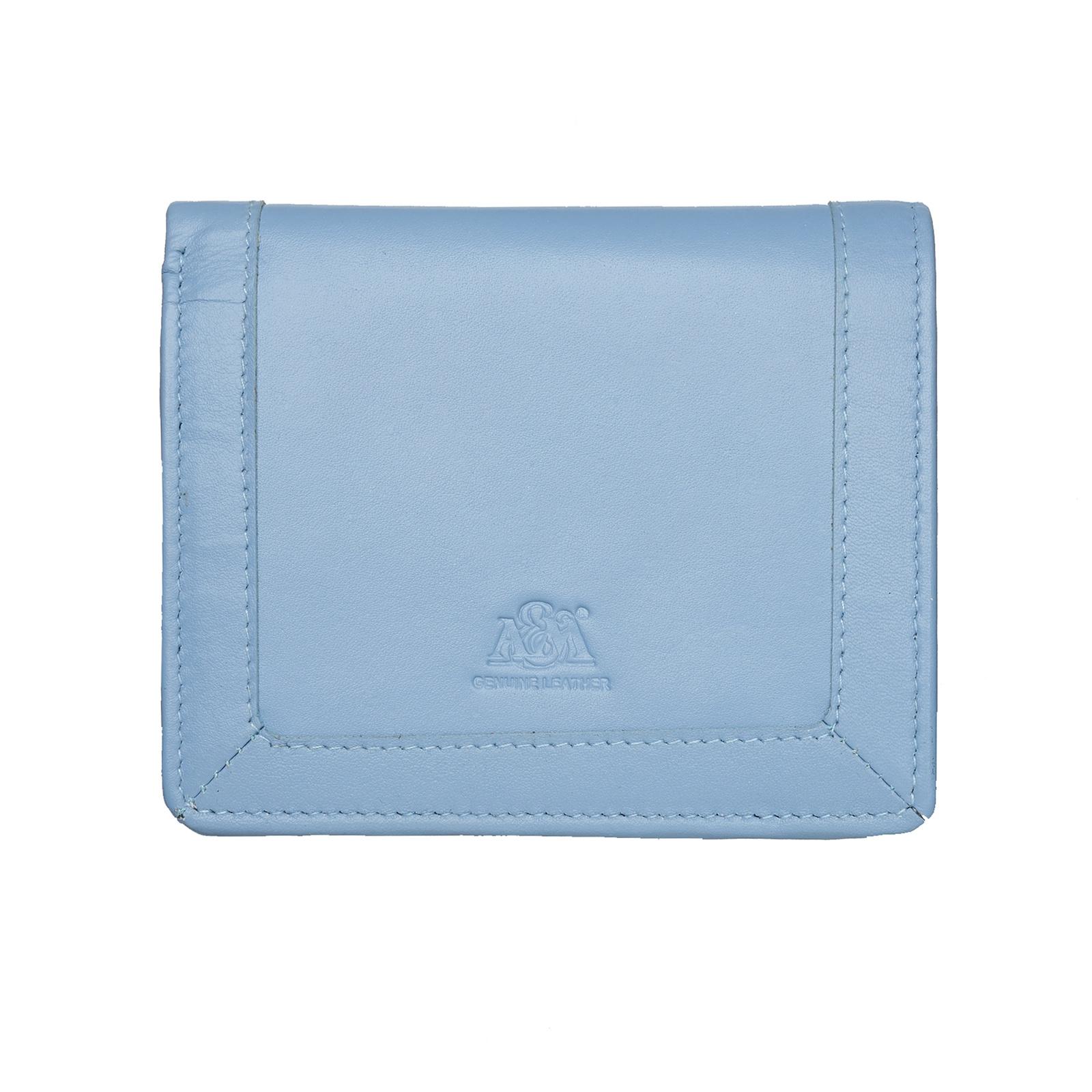 Портмоне A&M женское, 2656D.Grey, голубой, голубой