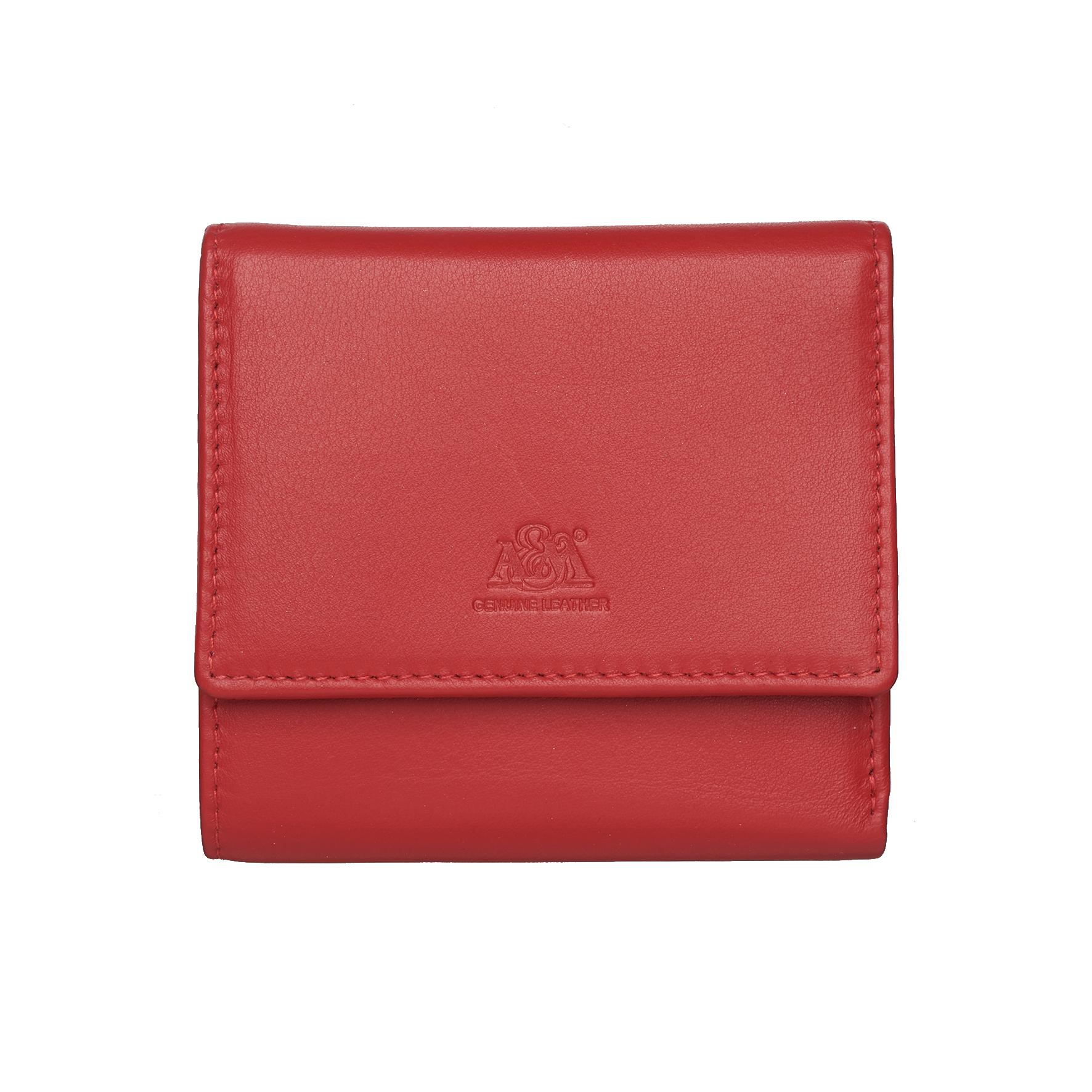цена Портмоне A&M женское, 2652N.Red, красный, красный онлайн в 2017 году