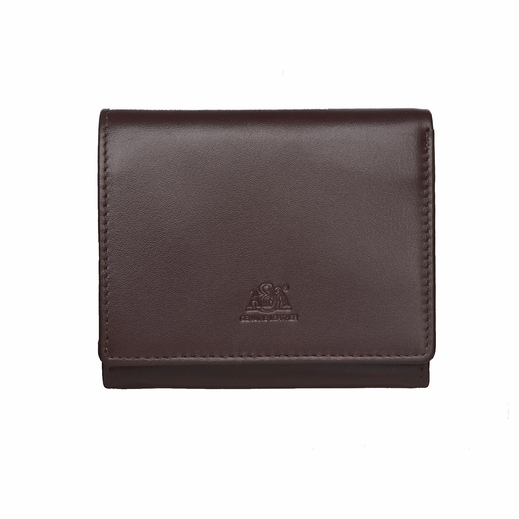 Портмоне A&M женское, 2653L.Brown, коричневый, коричневый