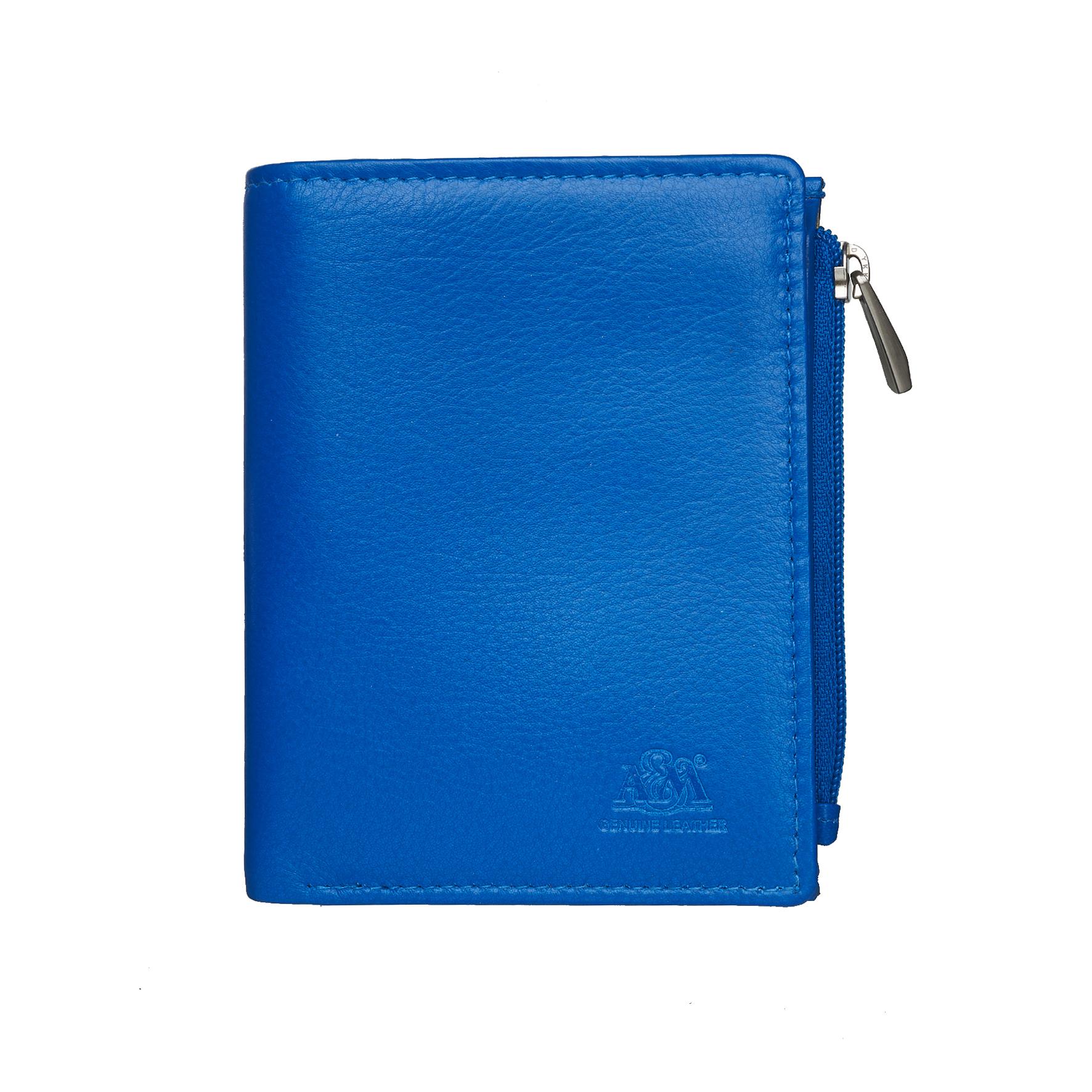 Портмоне A&M женское, 2655N.Blue, синий, синий женское платье деним синий