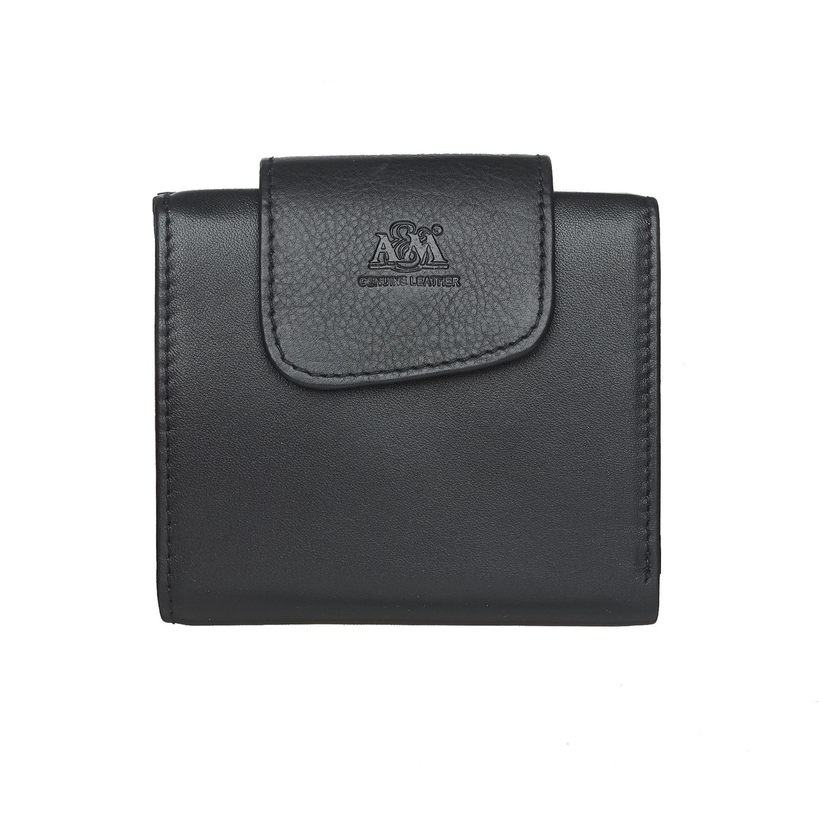 Портмоне A&M женское, 2651Black, черный, черный