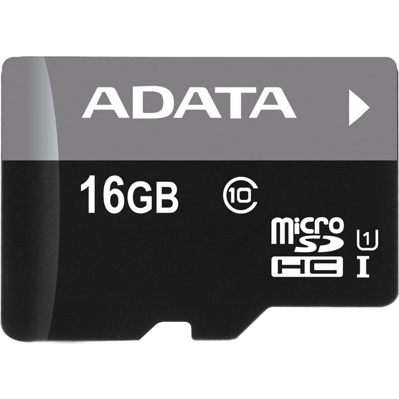 Карта памяти A-Data MicroSD 16GB Class 10 Premier UHS-I (R/W 30/10 Mb/s) без адаптера