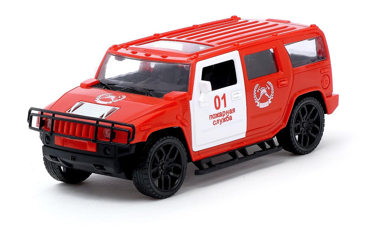 Машинка Джип Пожарная служба, инерционная, 3947625 набор машинок siku пожарная служба 1818rus