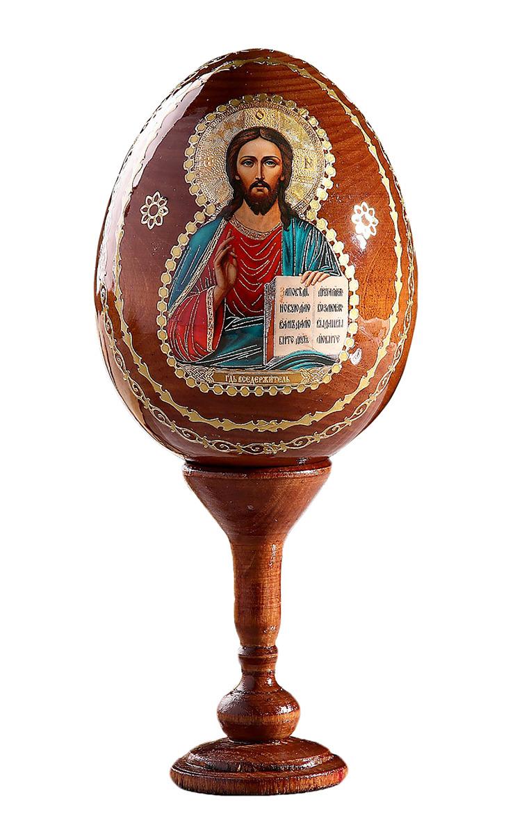 Яйцо сувенирное Господь Вседержитель, на подставке, 691106 икона 3 радости