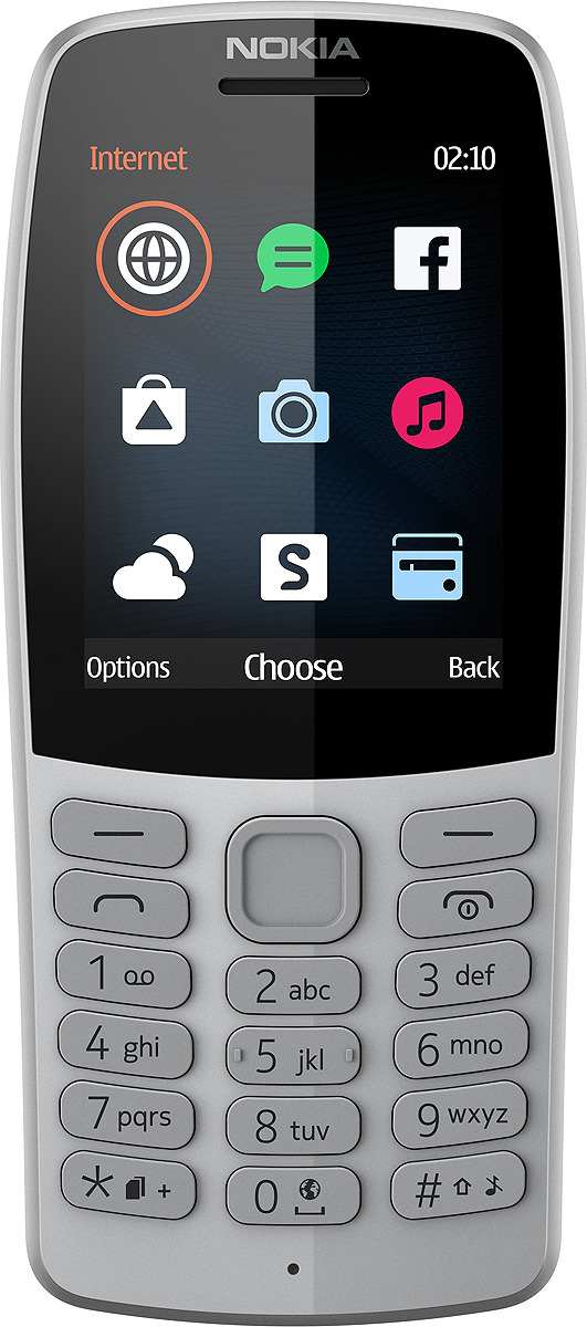 Мобильный телефон Nokia 210 DS, серый