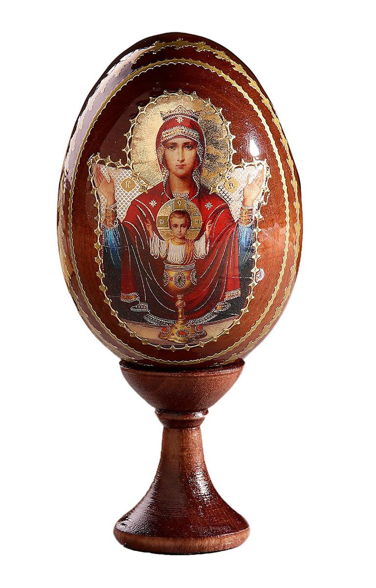 Яйцо сувенирное Неупиваемая чаша, на подставке, 695264 икона 3 радости