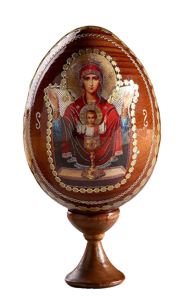 Яйцо сувенирное Неупиваемая чаша, на подставке, 695286 икона 3 радости