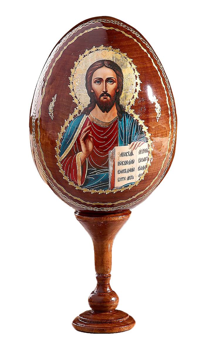 Яйцо сувенирное Господь Вседержитель, на подставке, 695305 икона 3 радости